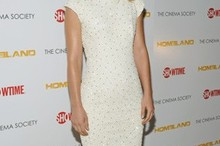 Claire Danes shines in embellished shift dress at Homeland premiere