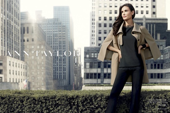 Revealed: Demi moore is the new face of Ann Taylor. Photo: AP/Ann Taylor