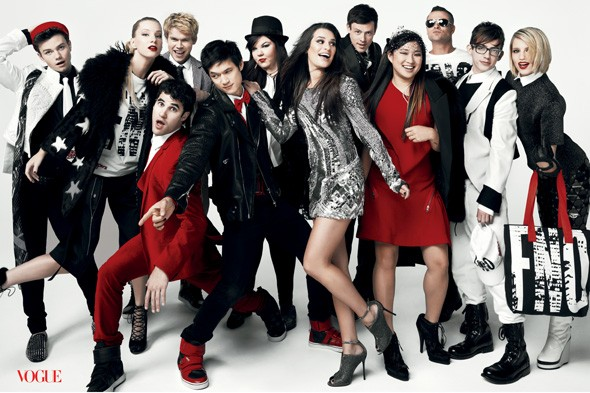 Glee cast appear in American Vogue's September issue
