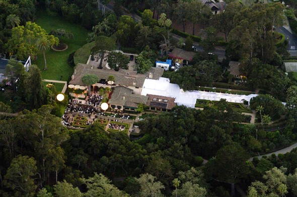 The wedding venue at Montecito, California