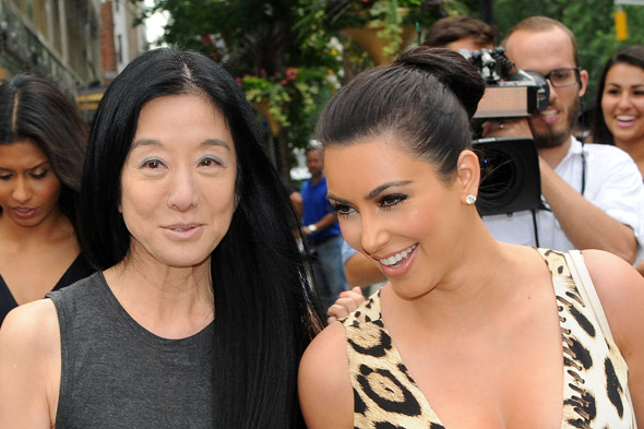 The designer of Kim Kardashian 39s wedding dress will be drumroll