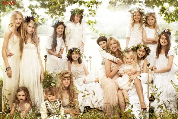 Kate Moss and her bridesmaids