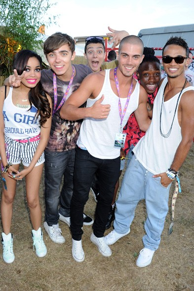 Dionne Bromfield, The Wanted and Aston Merrigold