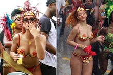 Rihanna's carnival couture - bejewelled knickers and not much else