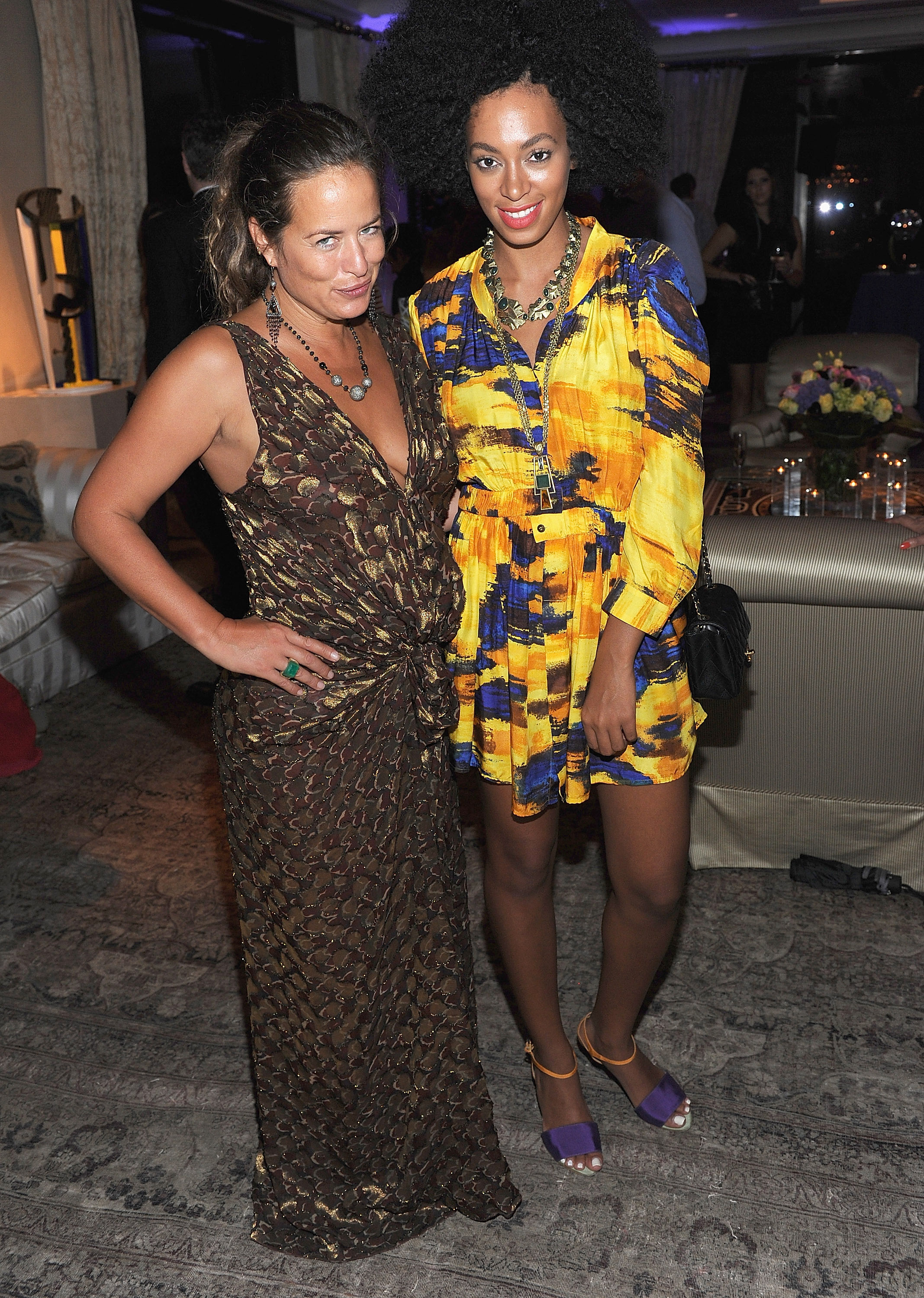 Jade Jagger and Solange Knowles