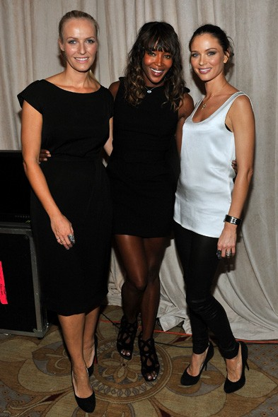 Keren Craig, Naomi Campbell and Georgina Chapman
