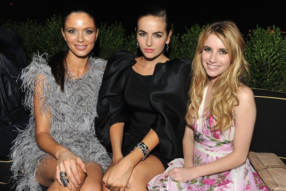 Georgina Chapman, Camilla Belle and Emma Roberts