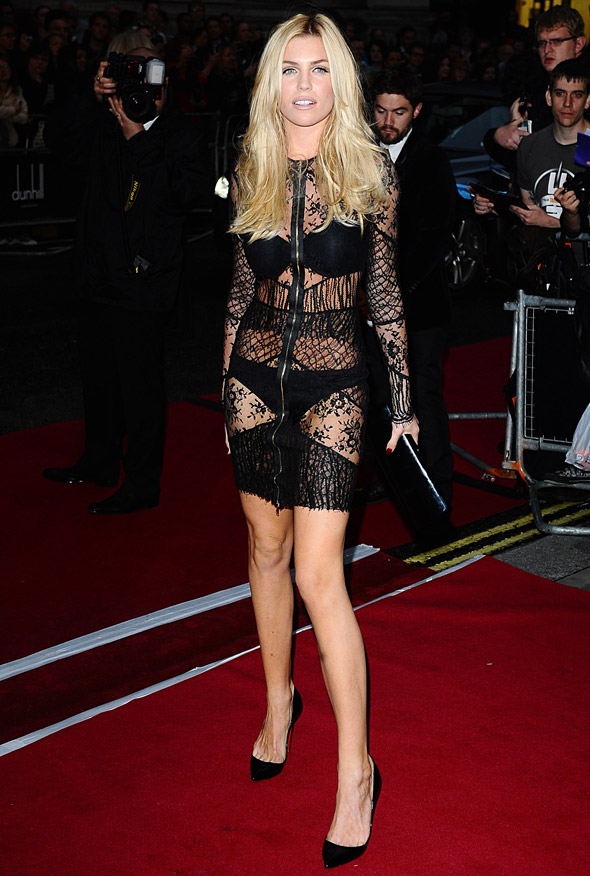 Hot or not: Abbey Clancy's underwear-flashing lace dress