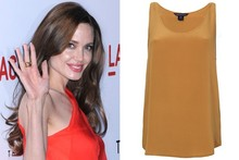 Where did Angelina go on a high-street shopping spree?