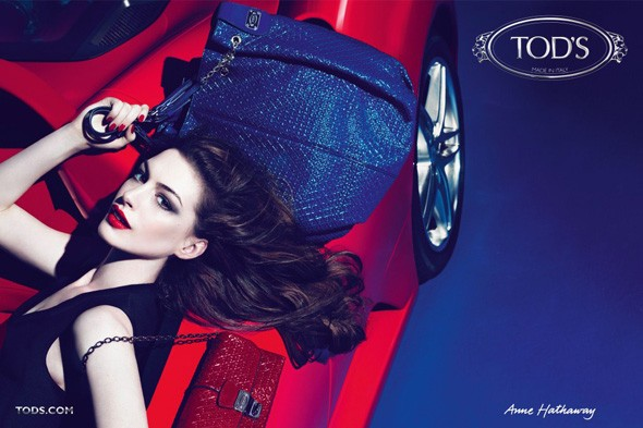Anne Hathaway stars in the new Tod's Signature Collection campaign