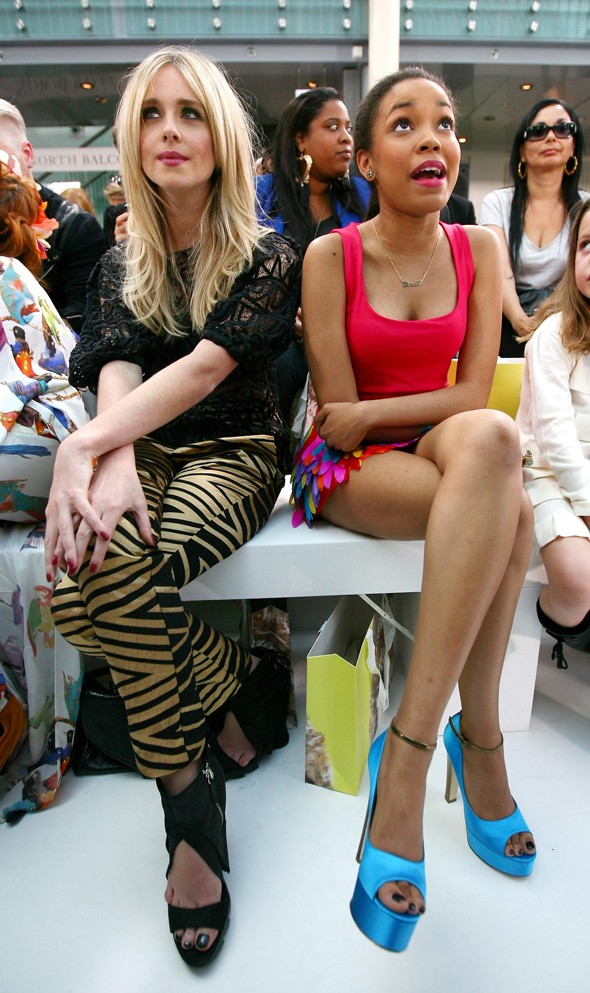 Diana Vickers (left) and Dionne Bromfield