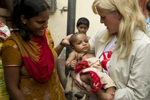 Ashley Jensen's diary: Educating women in the slums of Delhi