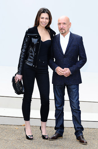 Ben Kingsley and Daniela Lavender at Burberry