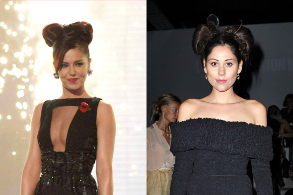 Eliza Doolittle recreates Cheryl Cole's Minnie Mouse 'do at London Fashion Week