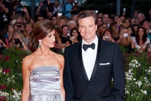 Colin Firth returns to the red carpet at Venice Film Festival
