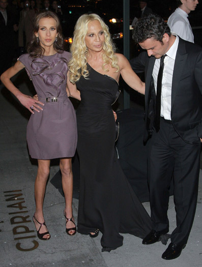 Donatella Versace and Balthazar Getty