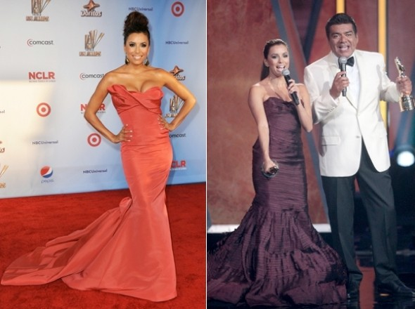 Eva Longoria showcases THREE dresses at ALMA Awards in LA