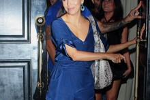 Hot or not: Eva Longoria's tiny blue playsuit