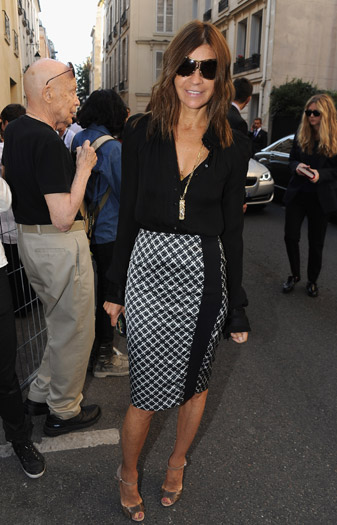 Carine Roitfeld arrives at Balenciaga