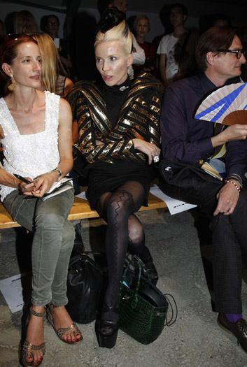 Daphne Guinness and Vogue's European Editor at Large, Hamish Bowles at Gareth Pugh