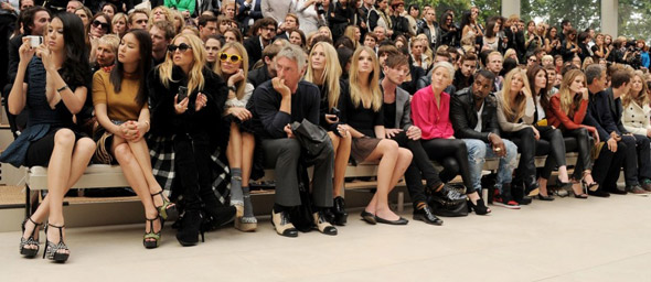 Burberry's frankly ridiculous celebrity front row