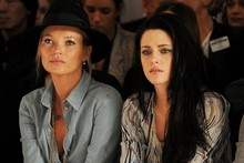 Kate Moss and Kristen Stewart are front row duo at Mulberry