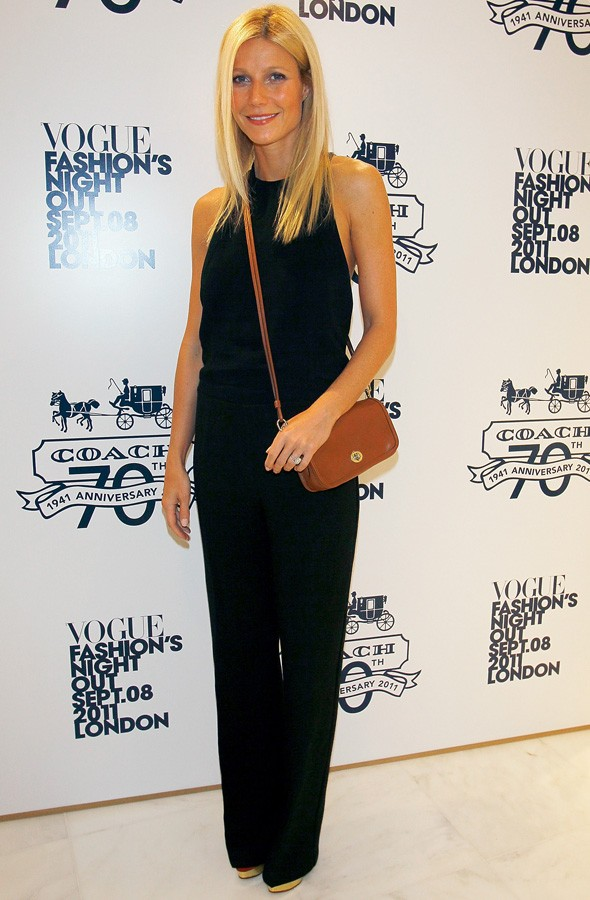 Gwyneth Paltrow at the Coach store launch for Fashion's NIght OUt