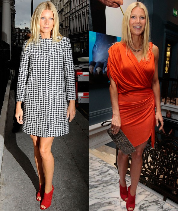 Gwyneth Paltrow arrives at the Coach dinner in London