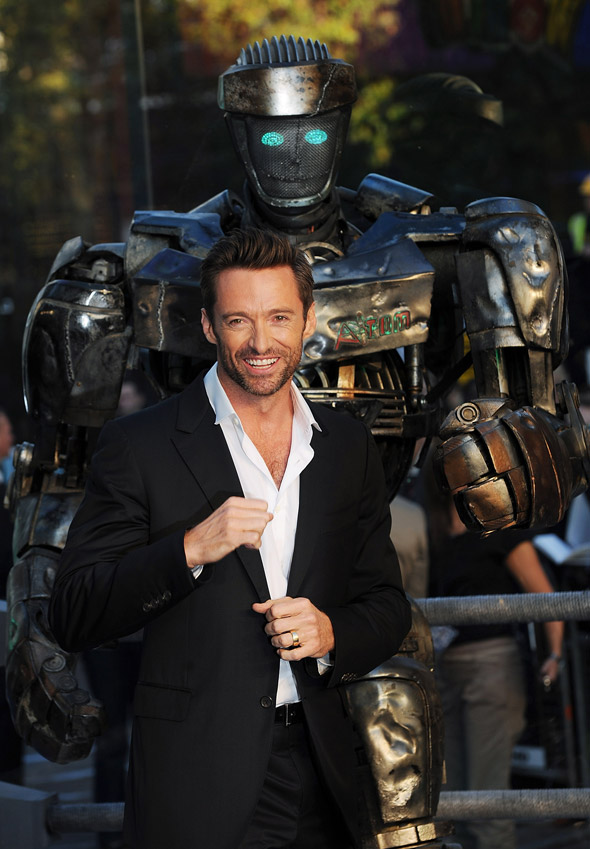 Hugh Jackman at Real Steel premiere