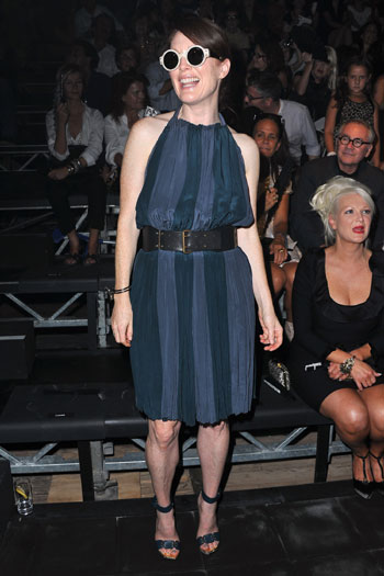 Julianne Moore in the front row at Lanvin