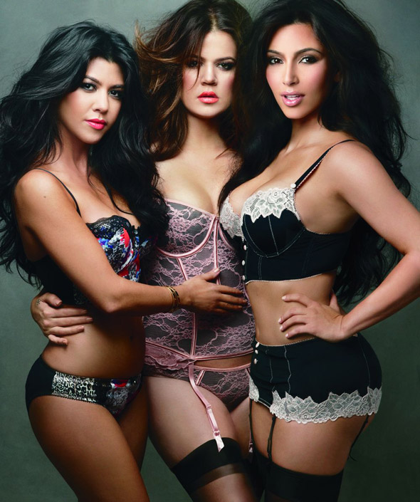 The Kardashians model lingerie for Annie Leibovitz