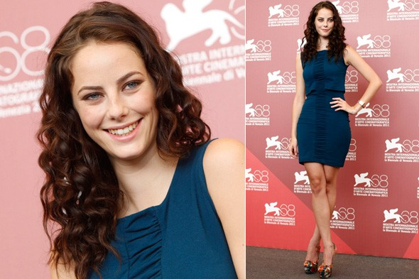 Kaya Scodelario at the Venice Film Festival Wuthering Heights photo call