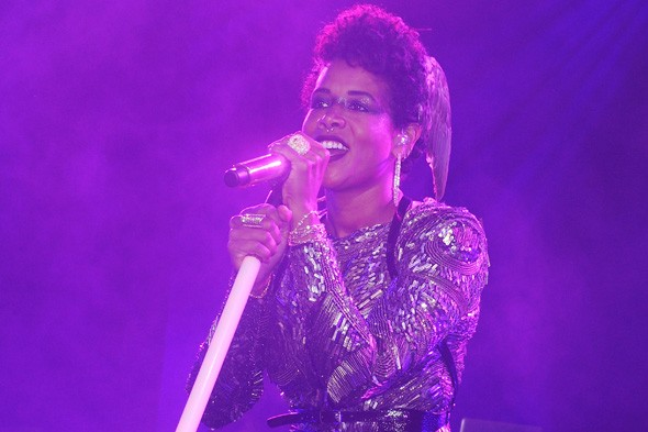 Kelis at the roberto Cavalli party