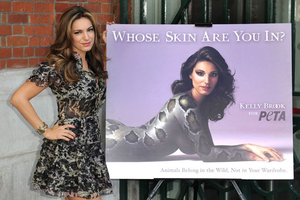 Kelly Brook shows some skin in new PETA campaign