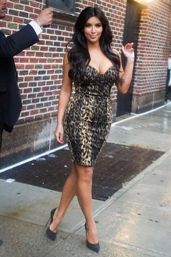 Kim Kardashian leaving a taping of The Late Show With David Letterman