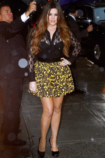 Khloe Kardashian leaves the Late Show With David Letterman