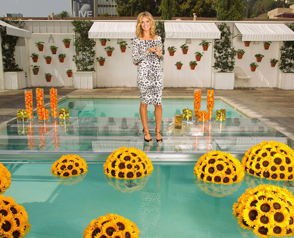 Heidi Klum goes leopard print to debut signature fragrance