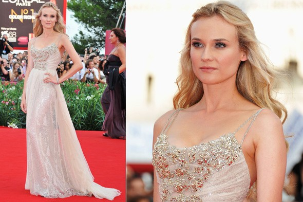 Diane Kruger in Elie Saab at The Ides of March premiere at the 2011 Venice Film Festival