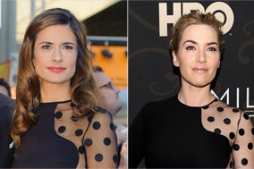 Olivia Firth and Kate Winslet in Stella McCartney