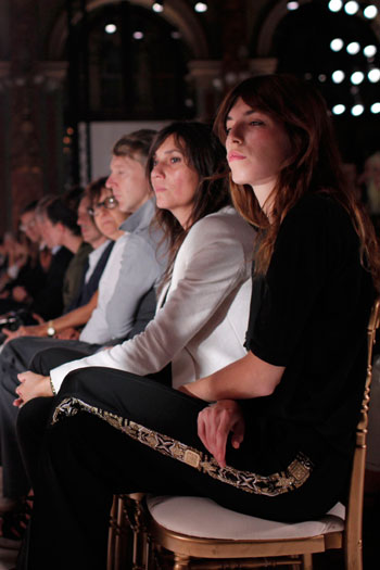 French actress and model Lou Doillon rocks on at Balmain