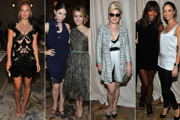 Celebs at the Marchesa show, New York Fashion WEek