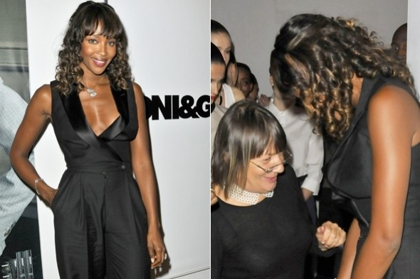 Hot or not: Naomi Campbell's tux jumpsuit and ringlet curls