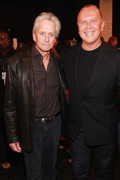 Michael Douglas and Michael Kors