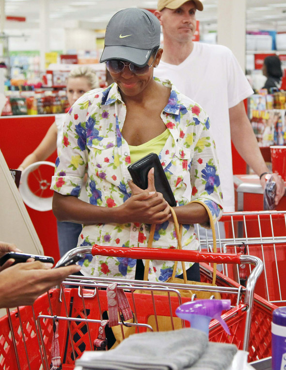 Michelle Obama surprises shoppers with a trip to budget chain Target