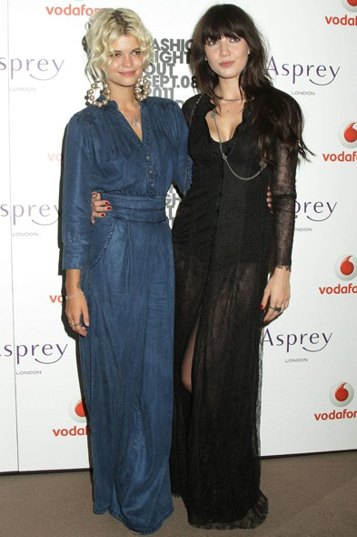 Pixie Geldof and Daisy Lowe at Asprey in London