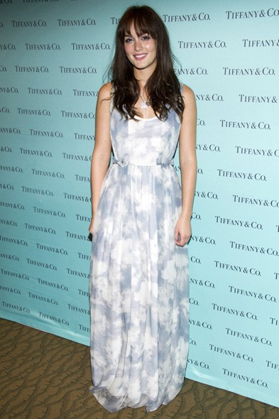 Leighton Meester at Tiffany & Co in New York