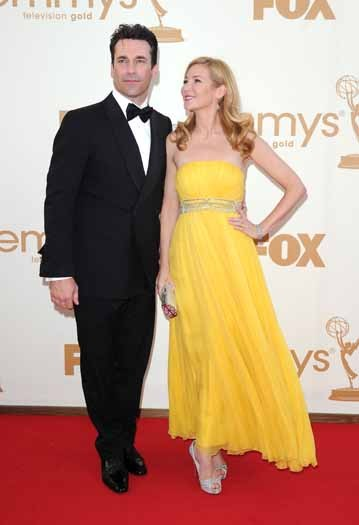 Jon Hamm and Jennifer Westfeld