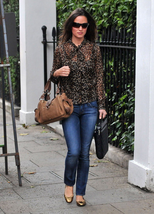 Pippa Middleton on the prowl in leopard print