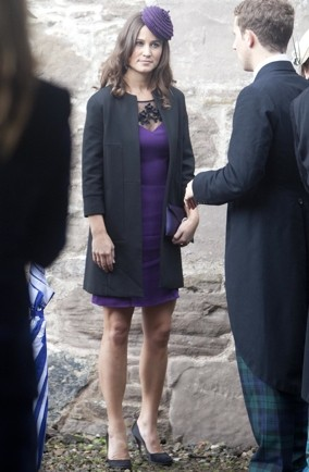 Pippa Middleton-wedding-style-Scotland-purple-shift-dress
