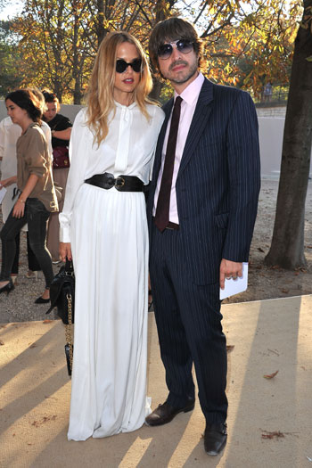 Rachel Zoe and hubby Rodger Berman arrive at Lanvin